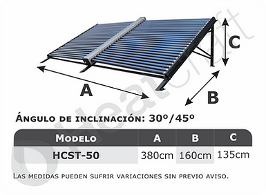 Modelos disponibles colector solar no pr