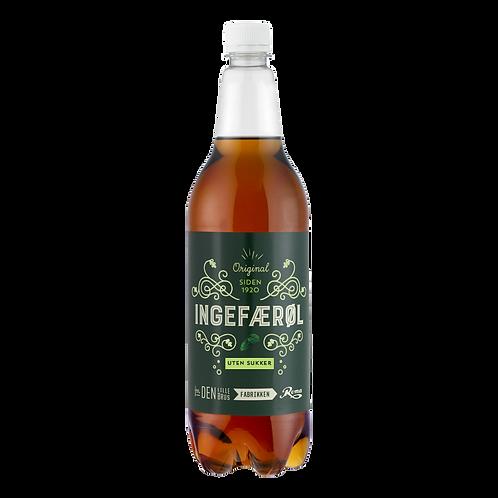 Ingefærøl uten sukker 1 l