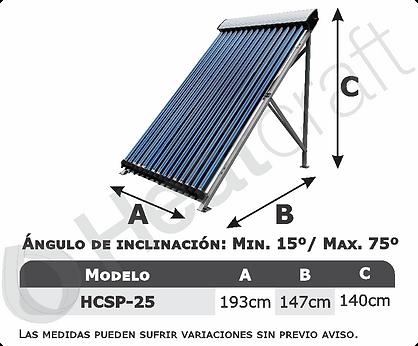 Modelos disponibles colector solar presu