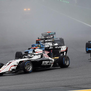 Juan Manuel Correa finished 22nd and 18th in the first two races held under heavy rain