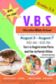 Colorful Vacation Bible School August 3-