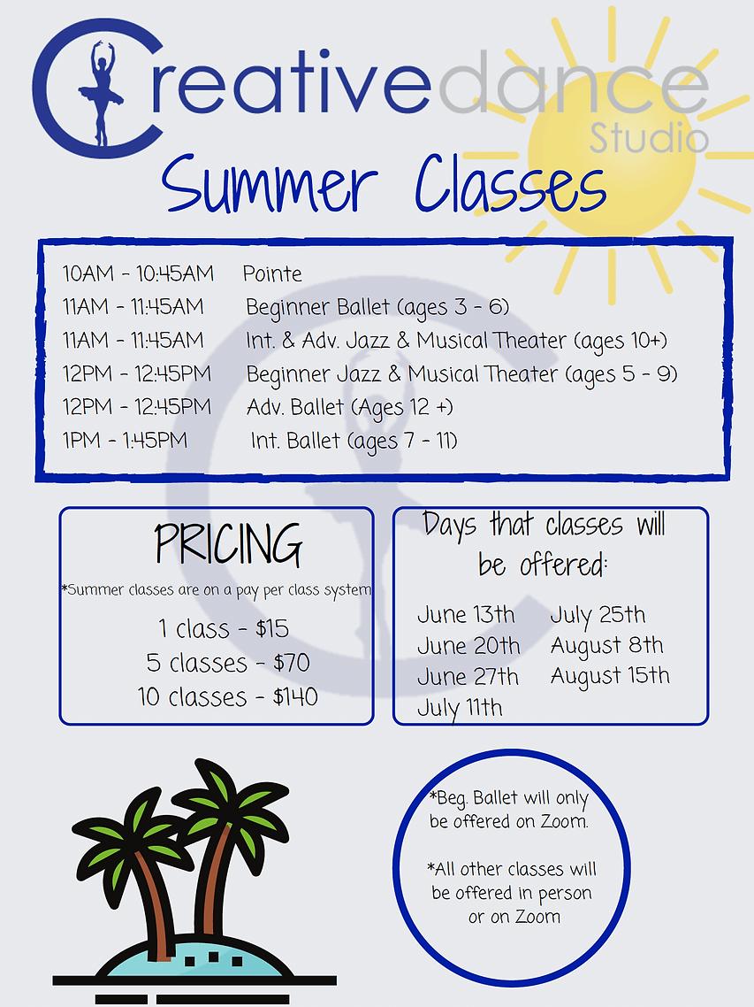 Creative Dance Studio Summer Classes 202
