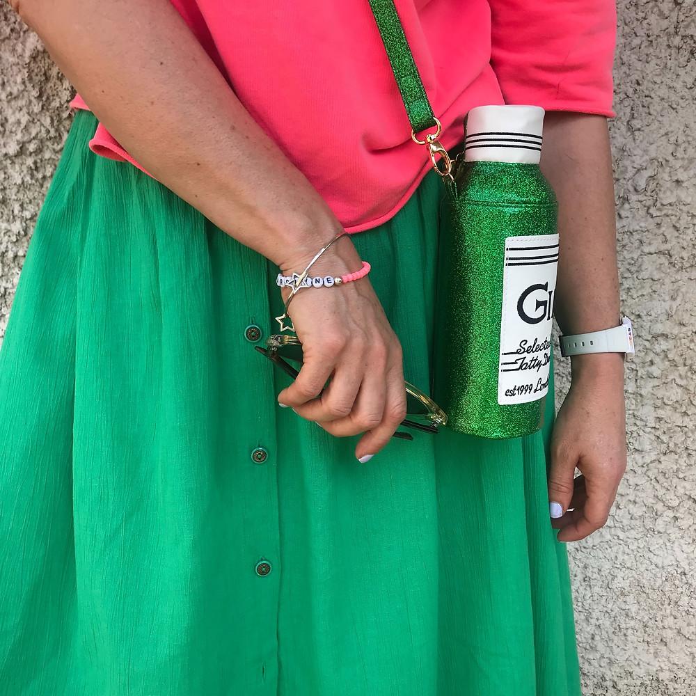 Oxfam skirt and sweatshirt