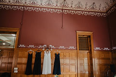 Bridal dresses ornate ceiling history center