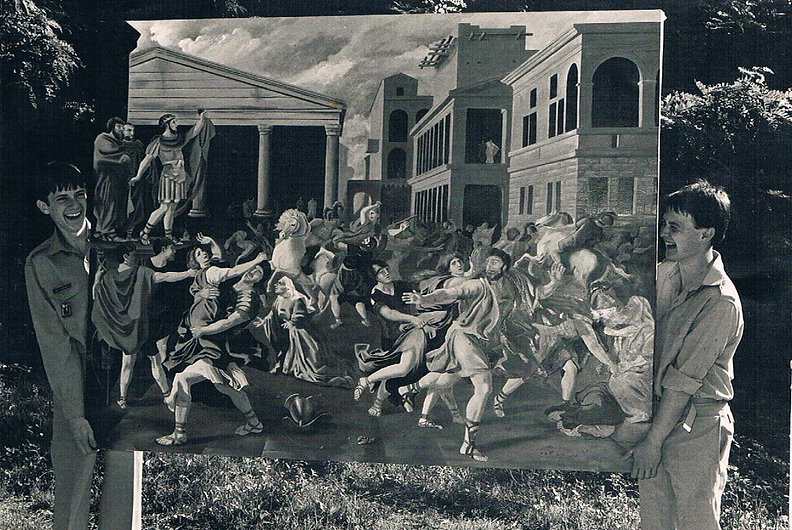 une peinture de Michel Suret-Canale et de François Gilbert
