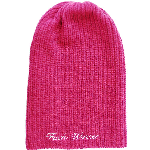 Rough Beanie Raspberry