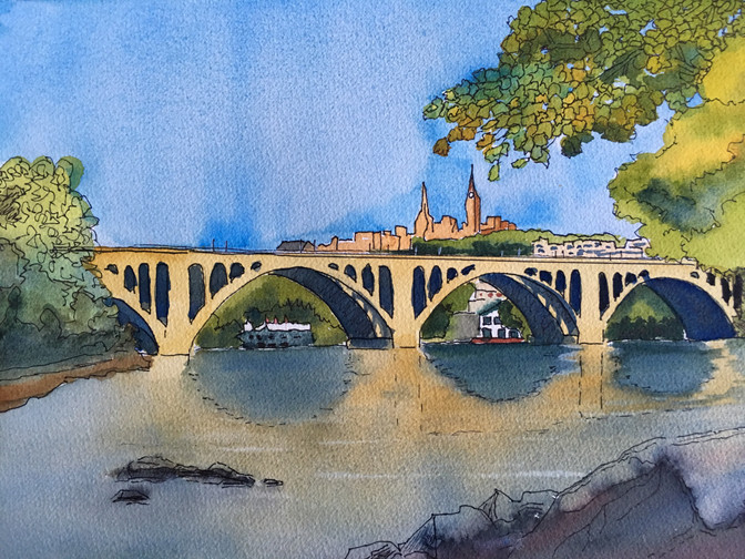 Win this painting of Key Bridge