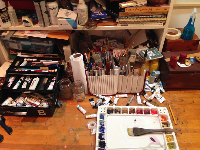 Artist Materials: What I Paint With