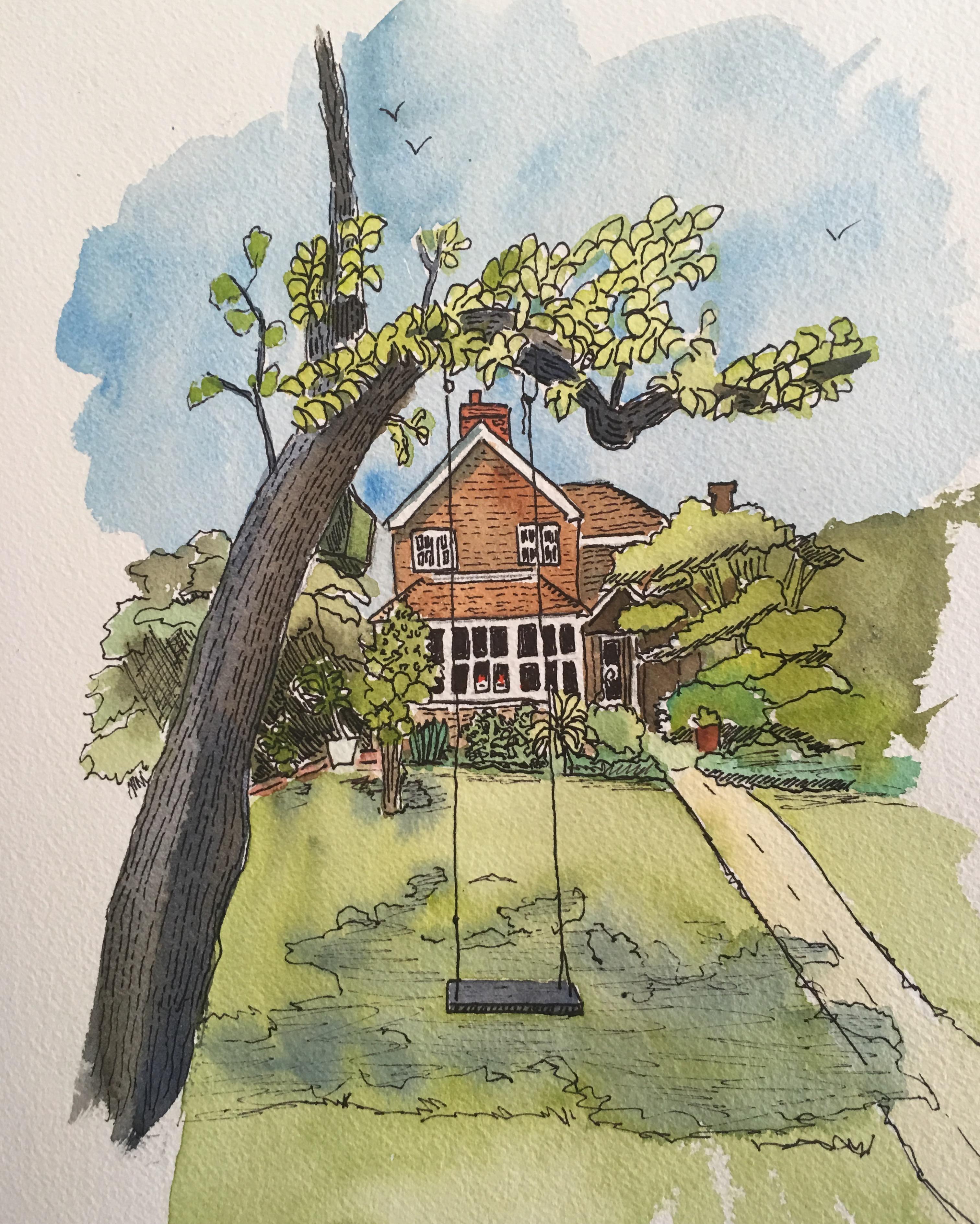 English Cottage - Custom Commission Piece