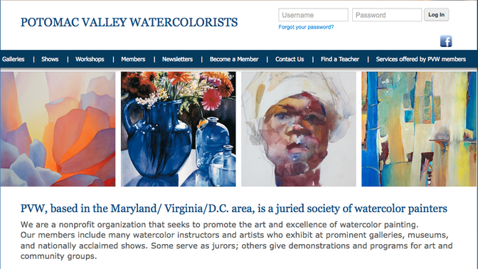 Potomac Valley Watercolorists ~ Featured artist for August