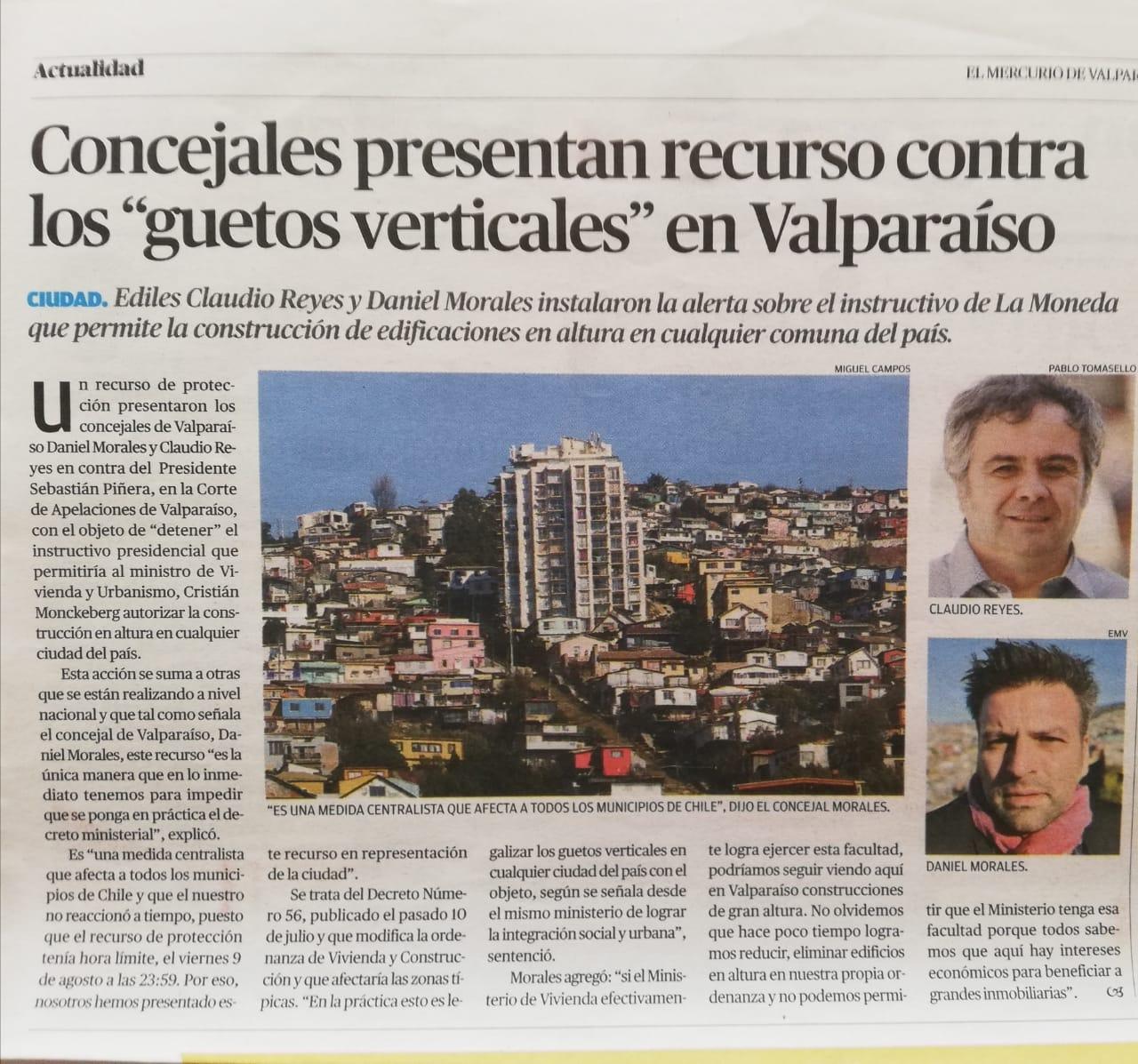 Mercurio de Valparaíso, 12.08.2019