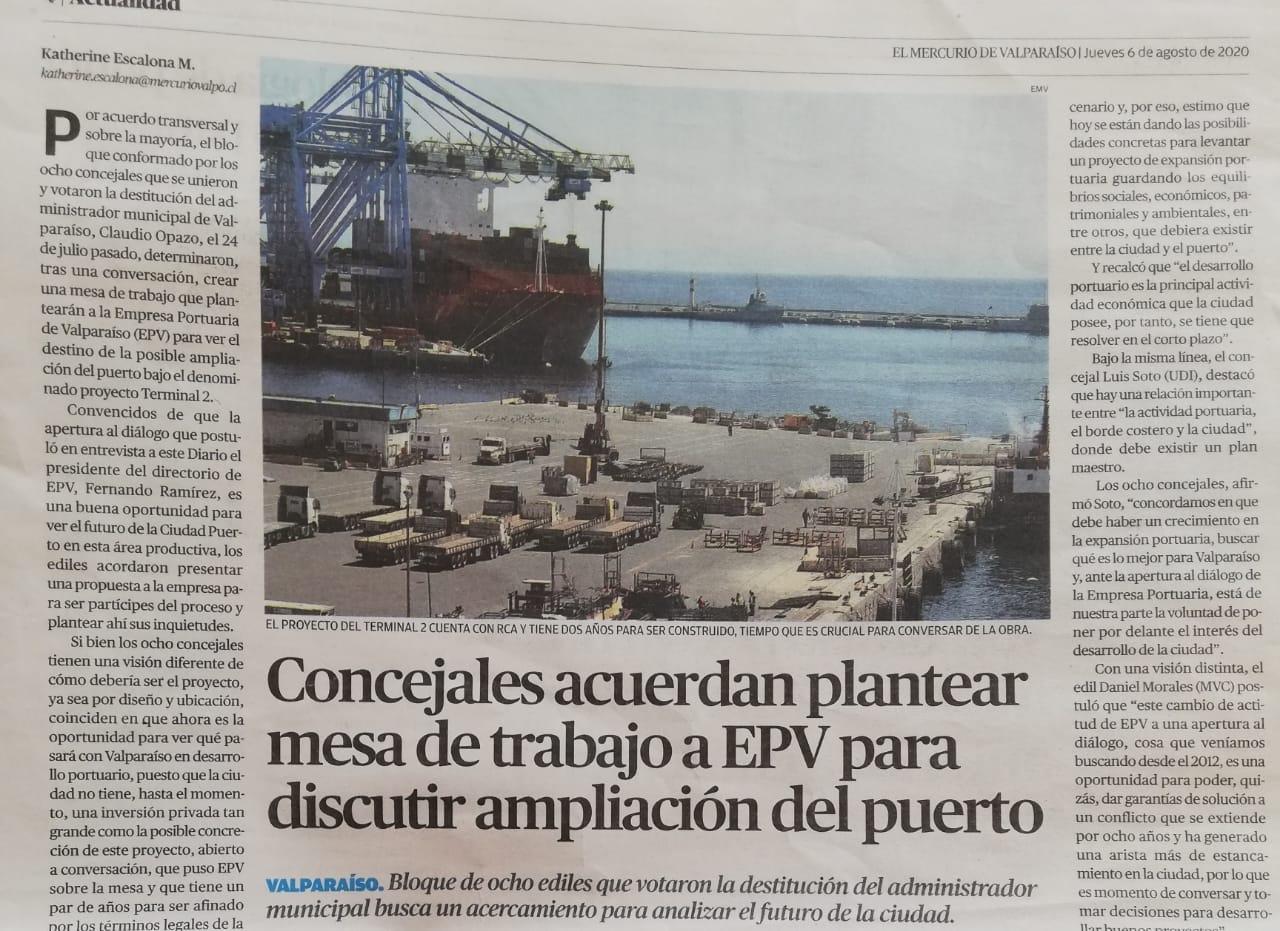 El Mercurio de Valparaíso, 06.08.2020