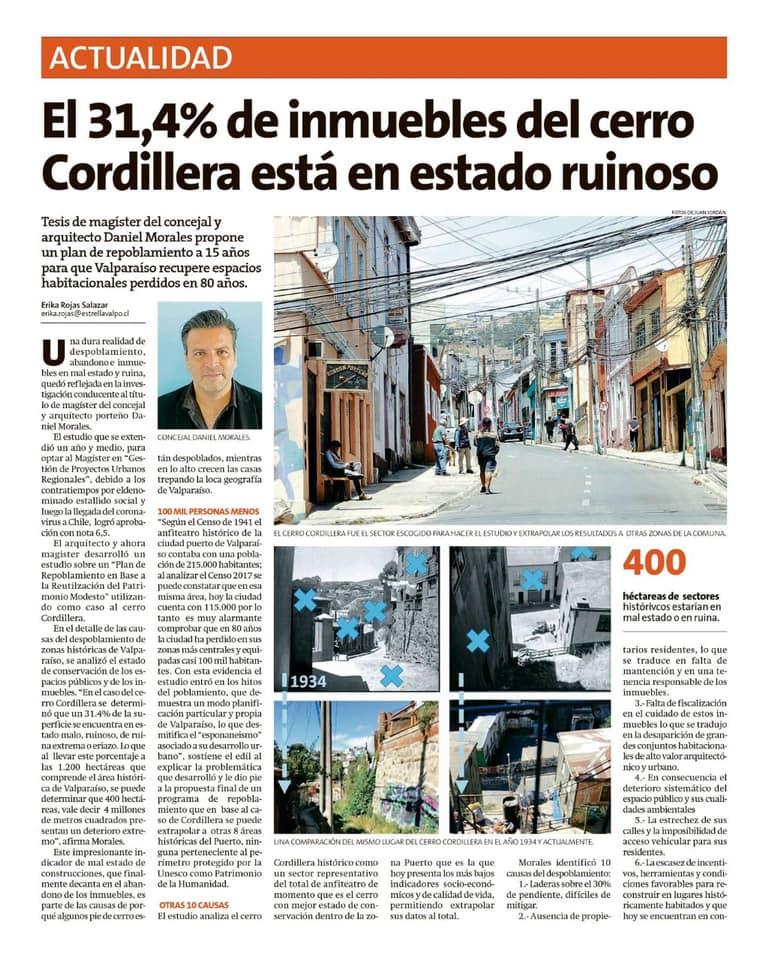 Repoblamiento Cerro Cordillera, diario La Estrella, 19 dic 2020