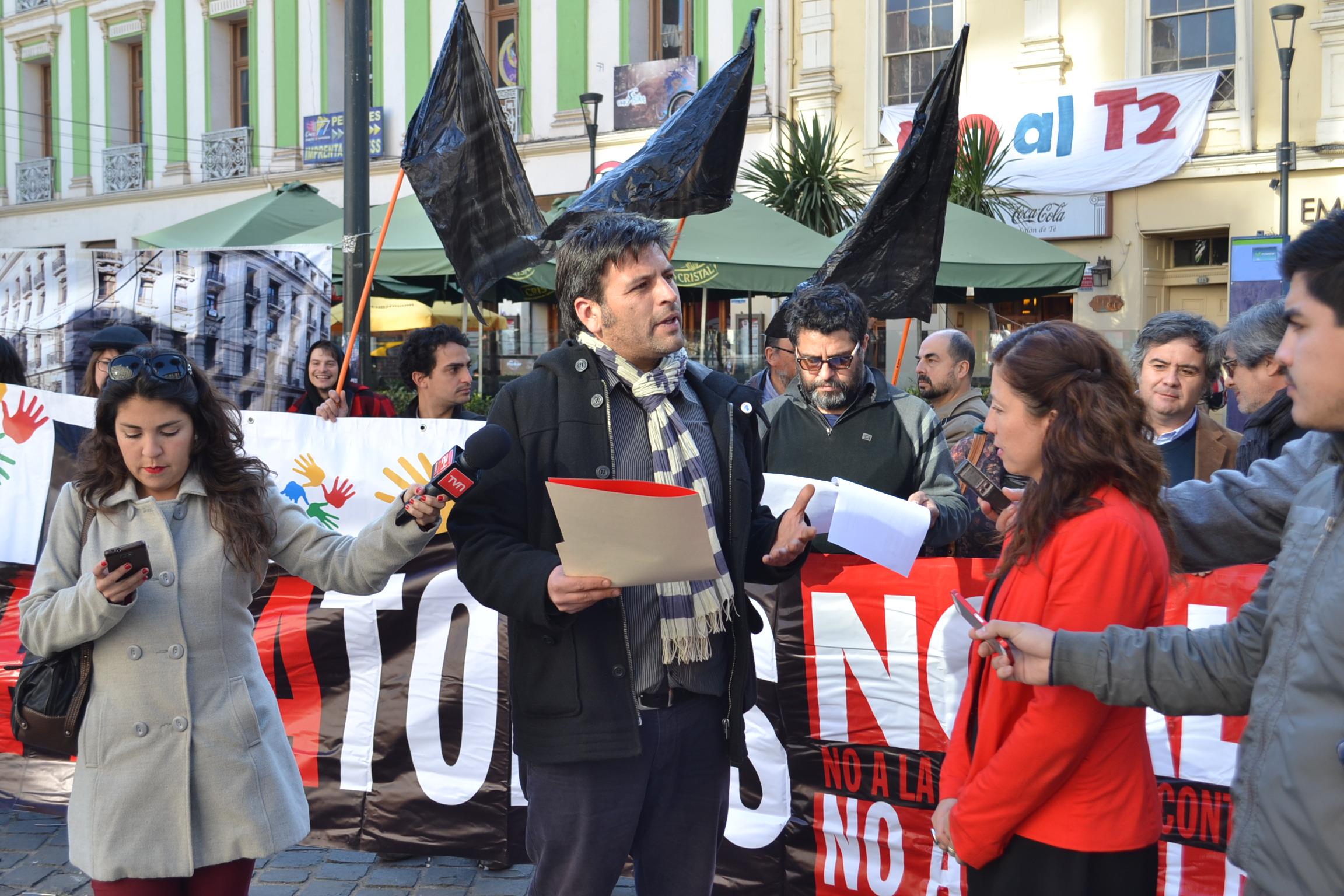 Manifestación Plaza Aníbal Pinto