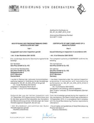 Die Regierung von Oberbayern inspiziert Gen-Plus