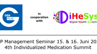 TOP Management Seminar 15. & 16. Juni 2020   -                 4th Individualized Medication Summit""
