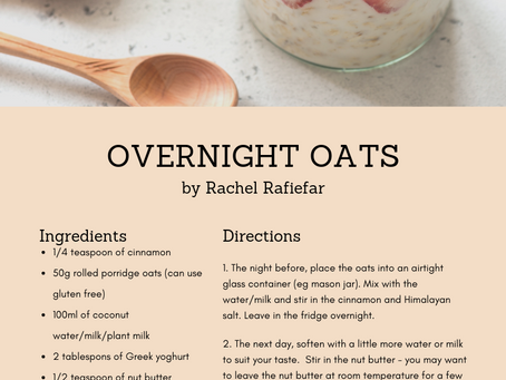 Recipe - Overnight Oats