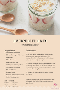 Breakfast is the most important meal of the day but lot's of us say we don't have the time to eat inbetween getting the children ready for school and running around. Overnight oats is a quick an easy solution and super tasty too!