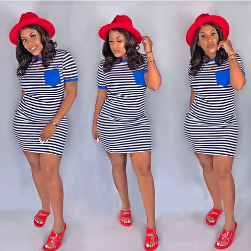 Striped shirt Dress (3 Colors)