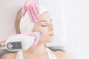 Woman taking treatment with radio wave l