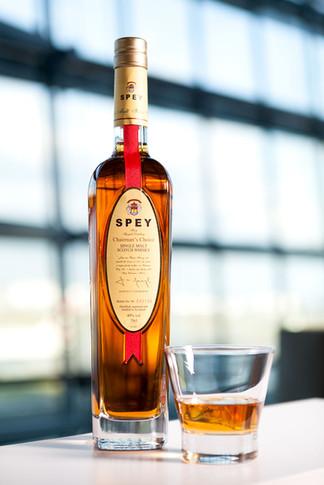 lifestyle shot of whisky bottle