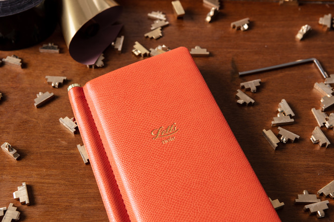 close up detail of letts notebook