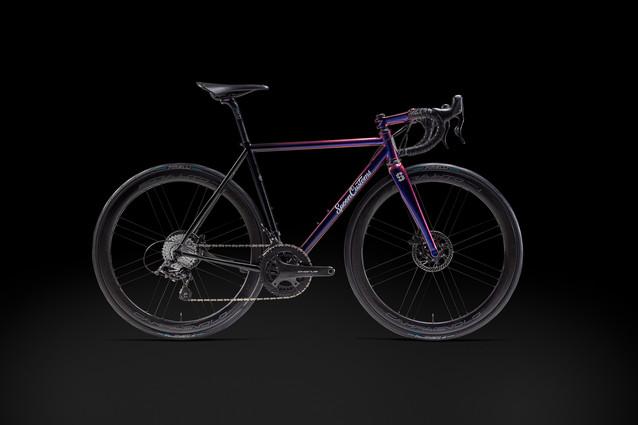 Spoon Customs purple and black bike