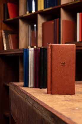 leather note book product shot
