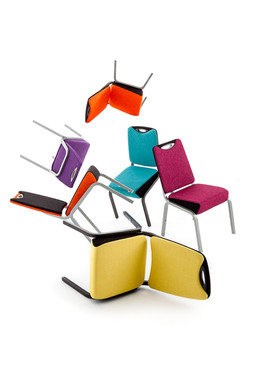 colourful office chairs product shot