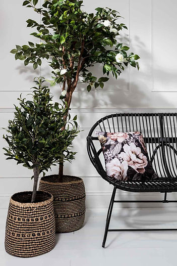 Lifestyle photography of a chair and cushion for Out There Interiors, by product photographer Simon Eldon