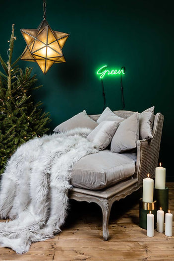 Christmas photography of furniture and home accessories for Out There Interiors, by product photographer Simon Eldon