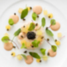 Food photography for the Michelin starred restaurant Gravetye Manor, by UK food photographer Simon Eldon
