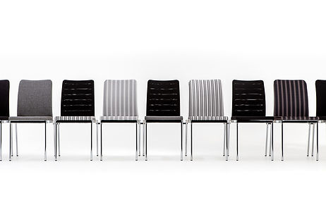 Studio photography of a range of contract conference chairs for Burgess Furniture, by commercial photographer Simon Eldon