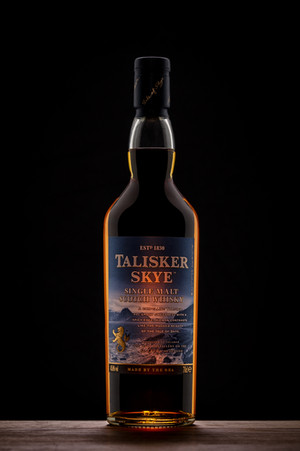 whisky bottle product shot