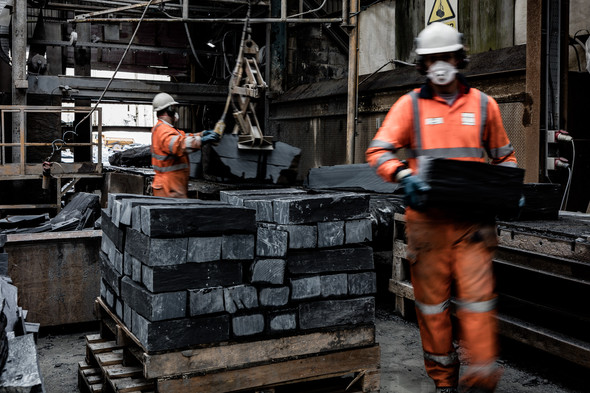 Welsh Slate quarry workers