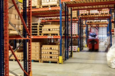 warehouse scene with racking