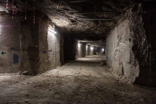 tunnels in portland stone mine