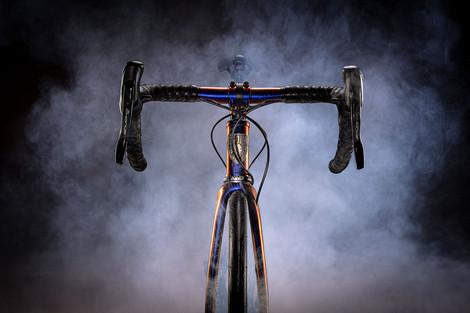 Spoon Customs bike with smoke
