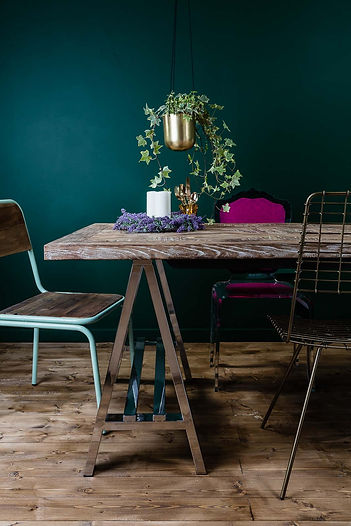 Lifestyle photography of a table and chairs for Out There Interiors, by product photographer Simon Eldon