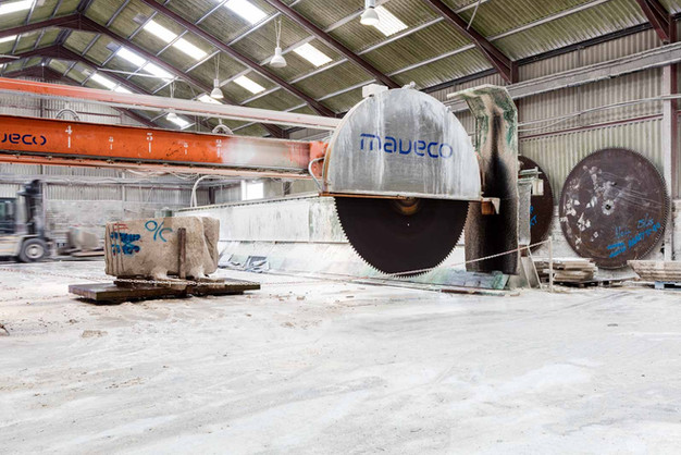 industrial photo of giant saw for cutting stone