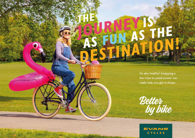 advertising photo for Evans Cycles