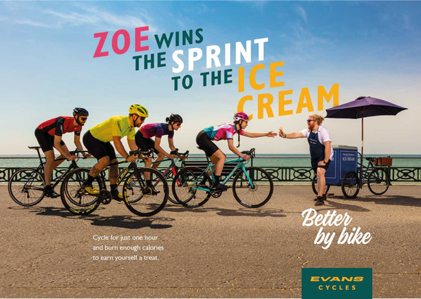 Evan Cycles campaign advertising image
