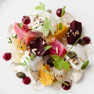 Food photography for the Michelin starred restaurant Gravetye Manor, by Sussex food photographer Simon Eldon