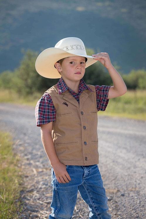 Youth Bronco Canvas Vest