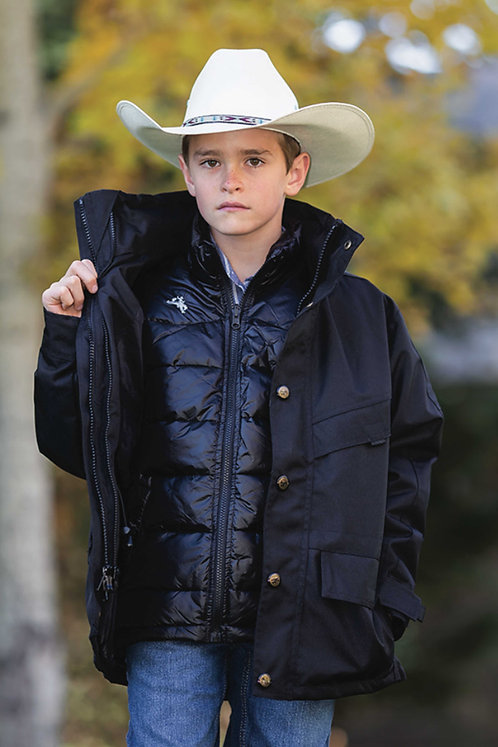Youth 3 In 1 Down Oxford Parka