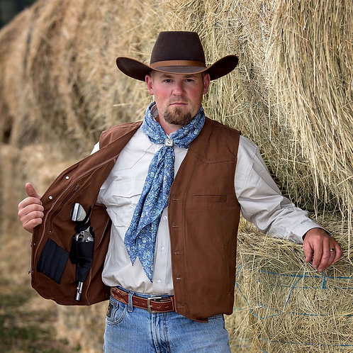 Texas Conceal Carry Canvas Vest