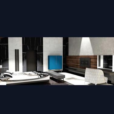 дизайн спальни, обратите внимание на комод