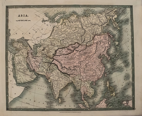 1831 Teesdale Map of Asia