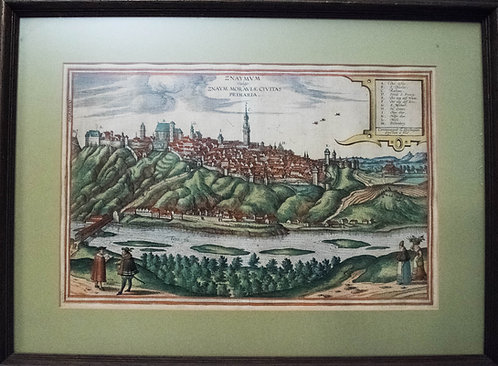 1617Braun&Hogenberg BirdsEye View of Moravian City