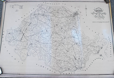 Early 1900s print of Map of Chesterfield Co., VA